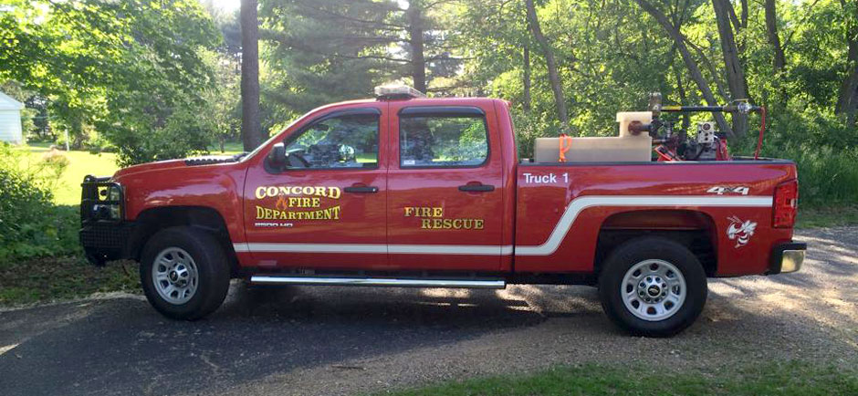 Concord Fire Department Pick-up Truck